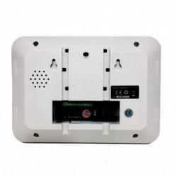 vue arrière centrale d'alarme gsm rtc tactile
