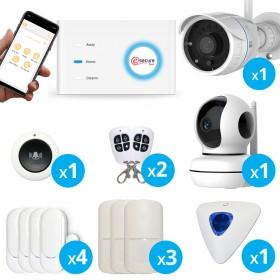 pack alarme connectée avec caméra intérieure et extérieure wifi full hd