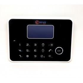 centrale d'alarme tactile noire design