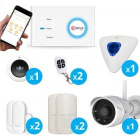 Système d'alarme Wifi + GSM pour maison sans fil avec camera extérieure