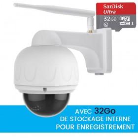 camera dome motorisée full hd avec zoom vision nocturne et detection de mouvement