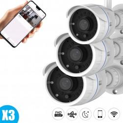 Lot de trois caméras full hd Vstarcam