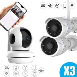 Pack video surveillance 3 caméras Vstarcam full hd connectées