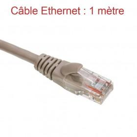 Cordon Ethernet Catégorie 5 PVC Gris Longueur 1m (772)