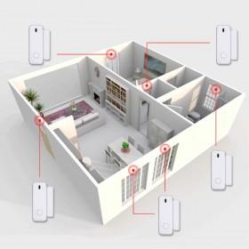 schema d'installation pour détecteur d'ouverture alarme radio