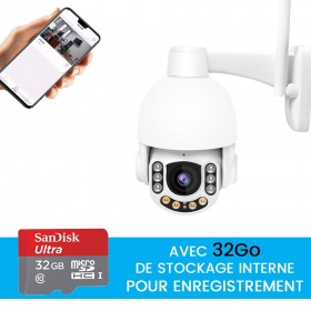 camera videoprotection exterieure avec stockage 32go