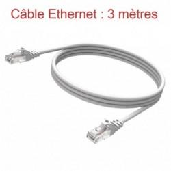 Cordon Ethernet Catégorie 5 PVC Gris Longueur 3m (774)