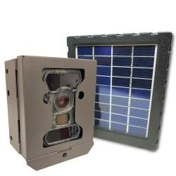 Caméra camouflée full HD avec boitier anti-vol et panneau solaire