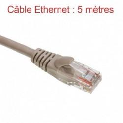 Cordon Ethernet Catégorie 5 PVC Gris Longueur 5m (778)