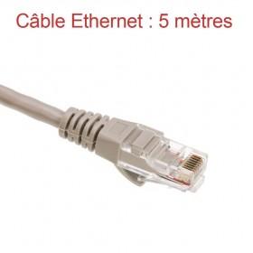 Cordon Ethernet Catégorie 5 PVC Gris Longueur 5m (779)