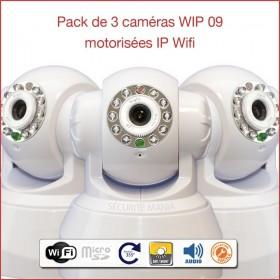 Pack de 3 caméras IP motorisées intérieures