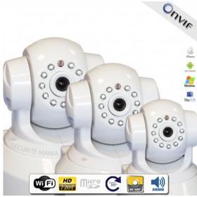 Pack de 3 caméras HD IP motorisées intérieures