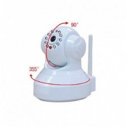 caméra de surveillance HD IP wifi exterieur alu blanc avec vision de nuit (2880)