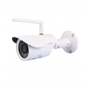 caméra de surveillance HD IP wifi exterieur alu blanc avec vision de nuit (2884)