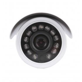 caméra de surveillance HD IP wifi exterieur alu blanc avec vision de nuit (2875)