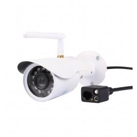 caméra de surveillance HD IP wifi exterieur alu blanc avec vision de nuit (2876)