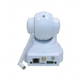caméra de surveillance HD IP wifi exterieur alu blanc avec vision de nuit (2925)