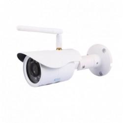 caméra de surveillance HD IP wifi exterieur alu blanc avec vision de nuit (2928)