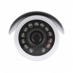 caméra de surveillance HD IP wifi exterieur alu blanc avec vision de nuit (4391)