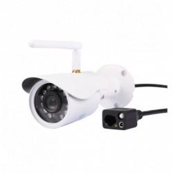 caméra de surveillance HD IP wifi exterieur alu blanc avec vision de nuit (4392)