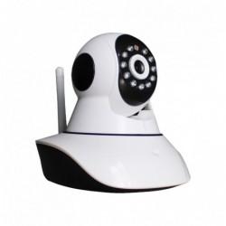 caméra de surveillance HD IP wifi exterieur alu blanc avec vision de nuit (4407)