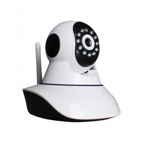 caméra de surveillance HD IP wifi exterieur alu blanc avec vision de nuit (4419)