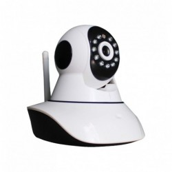 caméra de surveillance HD IP wifi exterieur alu blanc avec vision de nuit (4431)